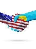 Stany Zjednoczone i Palau flaga pojęcia współpraca, biznes, sport rywalizacja ilustracji