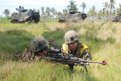 Stany Zjednoczone Morskie siły w Indonezja Obraz Royalty Free