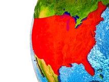 Stany Zjednoczone na 3D ziemi ilustracja wektor