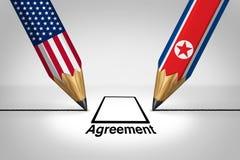Stany Zjednoczone Północny Korea dyplomacja ilustracja wektor