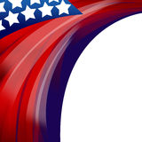 Stany Zjednoczone Patriotyczny tło Zdjęcia Royalty Free