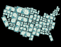 Stany Zjednoczone robić z jeden dolarowych rachunków Zdjęcie Stock