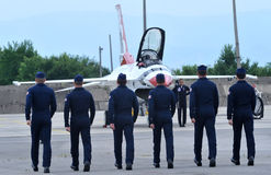 Stany Zjednoczone siły powietrzne thunderbirdy Fotografia Royalty Free