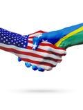 Stany Zjednoczone, Solomon wyspy zaznacza pojęcie współpracę, biznes, sport rywalizacja ilustracja wektor