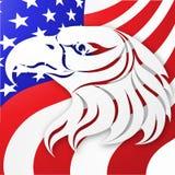 Stany Zjednoczone wektoru tło amerykańska flaga orzeł amerykański projekta ilustraci zapasu use wektor twój Zdjęcie Royalty Free