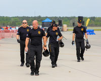 Stany Zjednoczone wojska spadochronu drużyna Zdjęcie Royalty Free