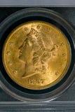 1897 Stany Zjednoczone $20 złota swobody moneta zdjęcie royalty free