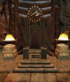 Stanza 1 del trono di fantasia Fotografia Stock