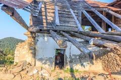 Stanza abbandonata cavallo Fotografie Stock