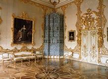 Stanza al palazzo di Tsarskoye Selo Pushkin Fotografia Stock Libera da Diritti