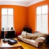 stanza arancione Fotografia Stock