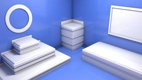 stanza astratta 3d illustrazione di stock