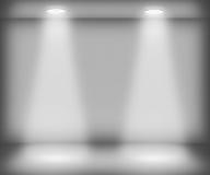Stanza bianca con due riflettori illustrazione di stock