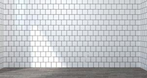 Stanza bianca vuota, illustrazione 3d per derisione su interior design illustrazione di stock