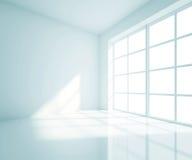 Stanza blu vuota Fotografia Stock
