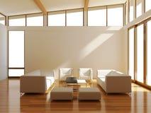 Stanza con il sofà illustrazione di stock
