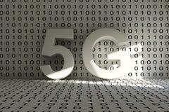 stanza concettuale 5G Fotografia Stock Libera da Diritti
