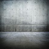 Stanza concreta nuda di Grunge Fotografie Stock Libere da Diritti