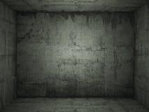 Stanza concreta verde Grungy Fotografie Stock
