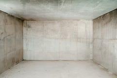 Stanza concreta vuota Fotografie Stock Libere da Diritti