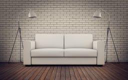 Stanza contemporanea con il sofà illustrazione vettoriale