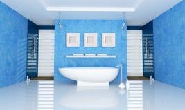Stanza da bagno blu royalty illustrazione gratis