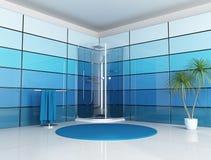 Stanza da bagno blu illustrazione di stock