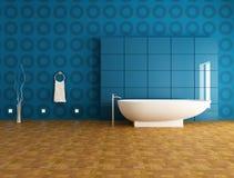 Stanza da bagno blu contemporanea illustrazione di stock