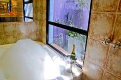 Stanza da bagno con la Jacuzzi Fotografie Stock Libere da Diritti