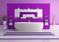 Stanza da bagno contemporanea viola illustrazione vettoriale