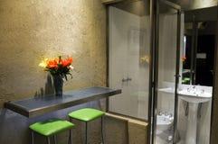 Stanza da bagno della camera di albergo Fotografie Stock Libere da Diritti