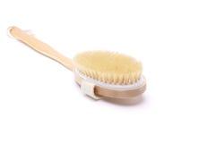 Stanza da bagno della spazzola sui precedenti bianchi Immagine Stock
