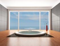 Stanza da bagno minimalista di lusso Fotografia Stock