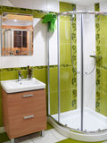 Stanza da bagno moderna del progettista Fotografia Stock Libera da Diritti