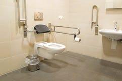 Stanza da bagno per i handicappati Fotografia Stock