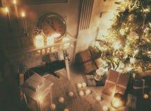 Stanza decorata per il Natale Immagine Stock
