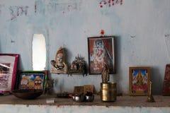 Stanza degli indù - India di culto fotografia stock libera da diritti