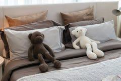 Stanza dei bambini con le bambole ed i cuscini Fotografia Stock