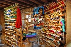 Stanza dei filati cucirini Fotografie Stock