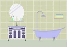 Stanza del bagno con mobilia Fotografia Stock
