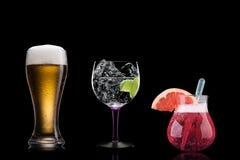 Stanza del fondo delle bevande delle bevande dei cocktail per testo Immagini Stock