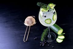 Stanza del fondo delle bevande delle bevande dei cocktail per testo Immagini Stock Libere da Diritti