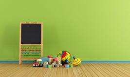 Stanza del gioco con i giocattoli Immagini Stock Libere da Diritti
