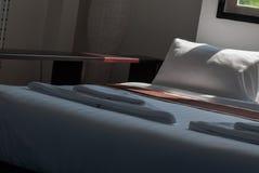 Stanza del letto di mattina Fotografia Stock