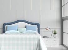 stanza del letto nel giorno felice Immagine Stock Libera da Diritti
