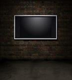 Stanza del mattone della TV illustrazione di stock