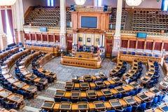 Stanza del senato del Campidoglio dello stato di Des Moines Iowa Immagine Stock Libera da Diritti