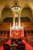 Stanza del senato nel Parlamento di Ottawa fotografia stock