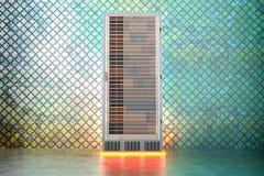 Stanza del server del metallo illustrazione vettoriale