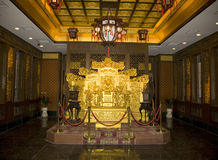 Stanza del trono dell'imperatore Fotografia Stock Libera da Diritti